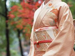 呉服の着付けの画像